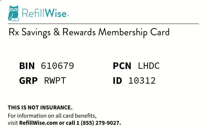 BIN: 610679, PCN: LHDC, GRP: RWPT, ID:10312